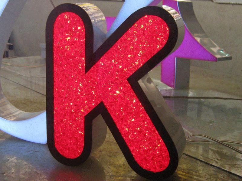 تابلو کریستالی   حرف k